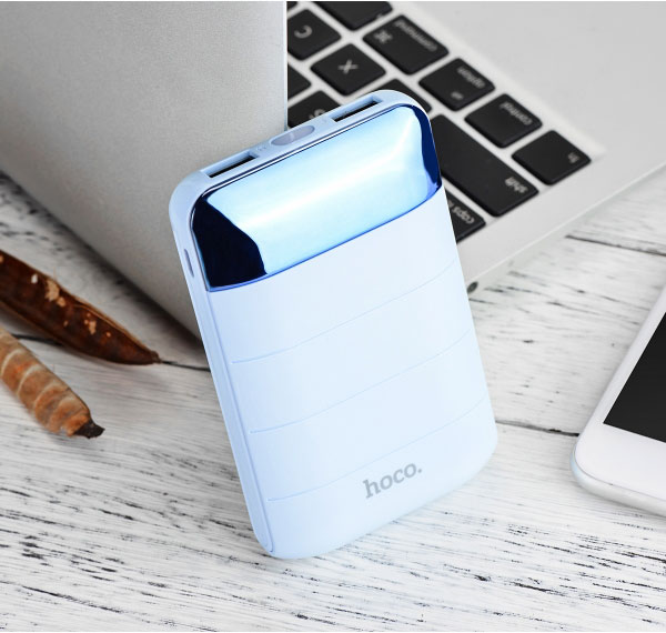 HOCO B29 10000mAh Portable Power Bank with Dual USB and LCD Digital Display