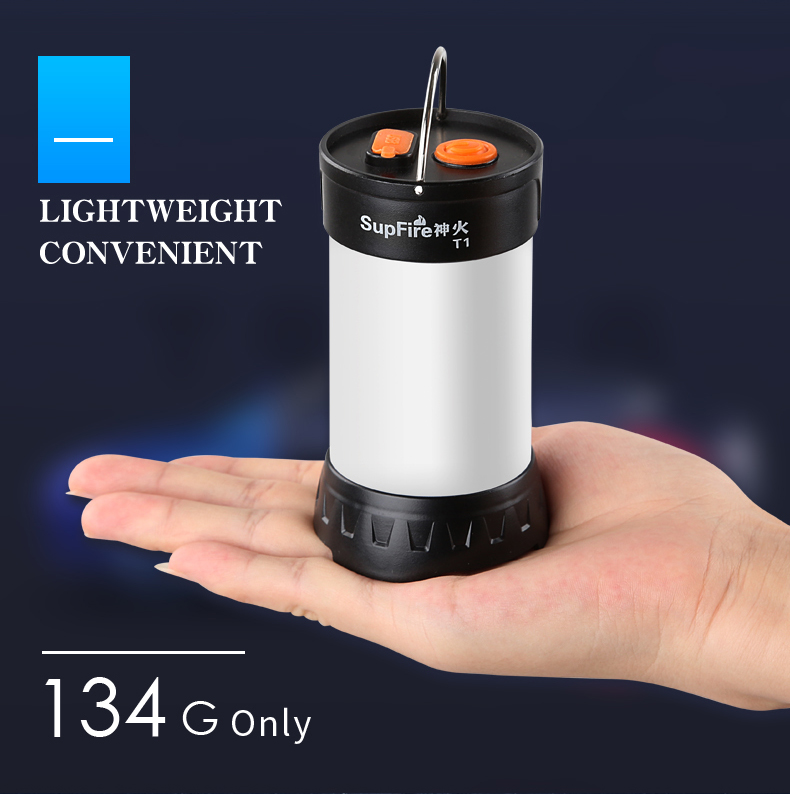 SupFire T1 Waterproof Rechargeable Outdoor Camping Lamp