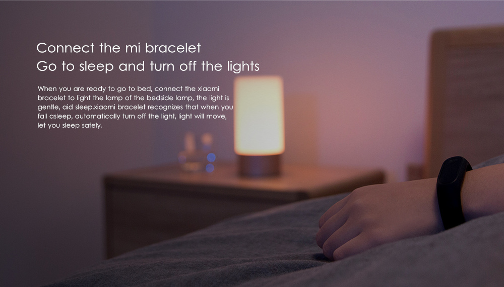 Original Xiaomi Mijia LED Smart Light Bedside Touch Control Bluetooth Dimmable Lamp