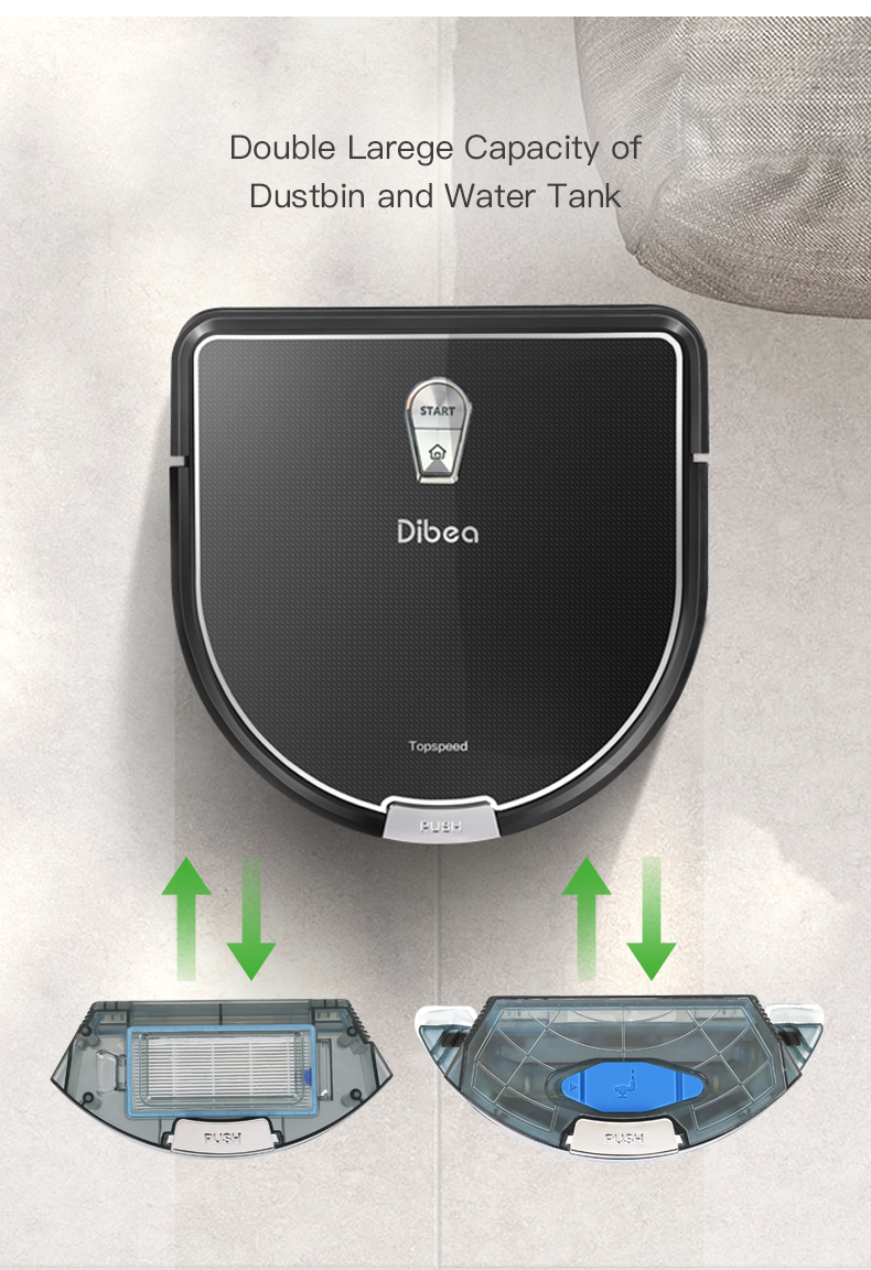 Dibea D960 Smart Sweeper Robot Vacuum Cleaner with Edge Cleaning Technology