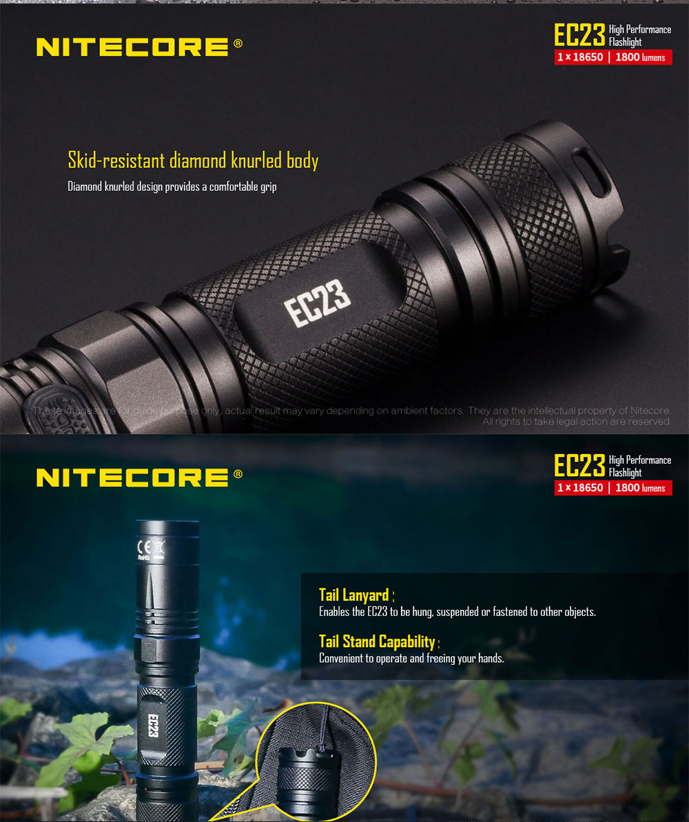 nitecore ec23 edc flashlight