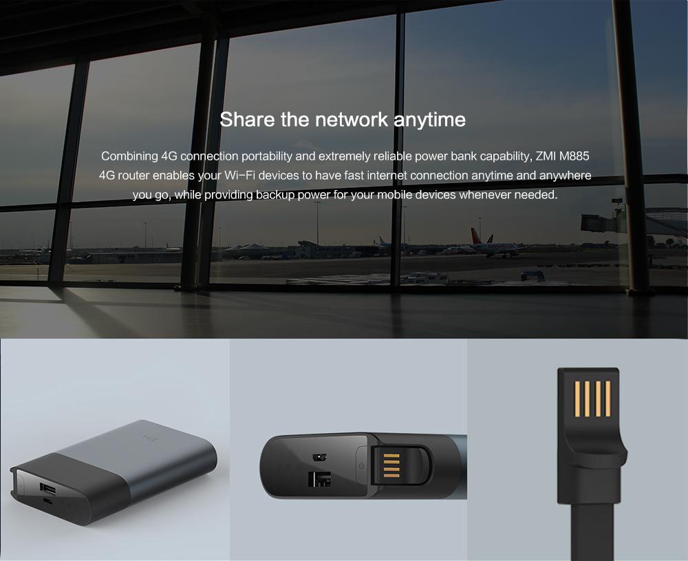 ZMI MF885 4G WiFi Router 10000mAh Power Bank