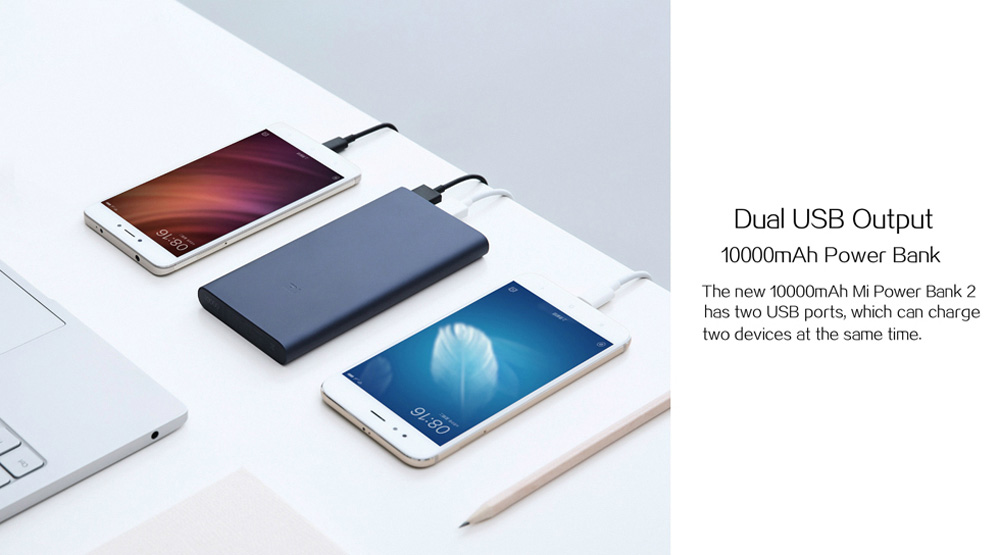 dual usb 10000mah power bank