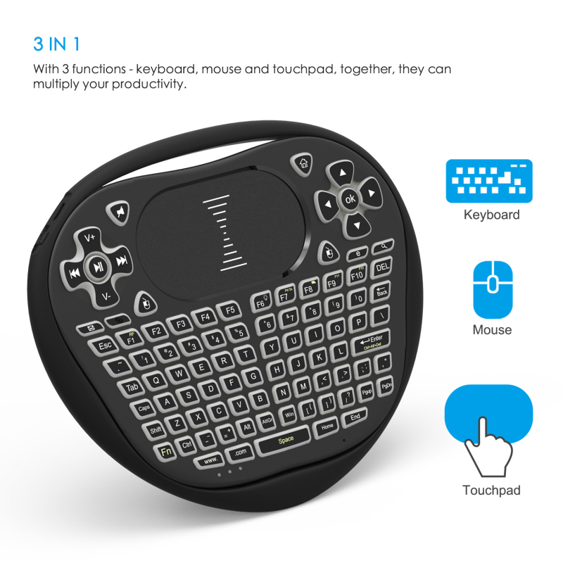SeenDa 352 Smart Mini Wireless Keyboard 2.4G with Touchpad Mouse