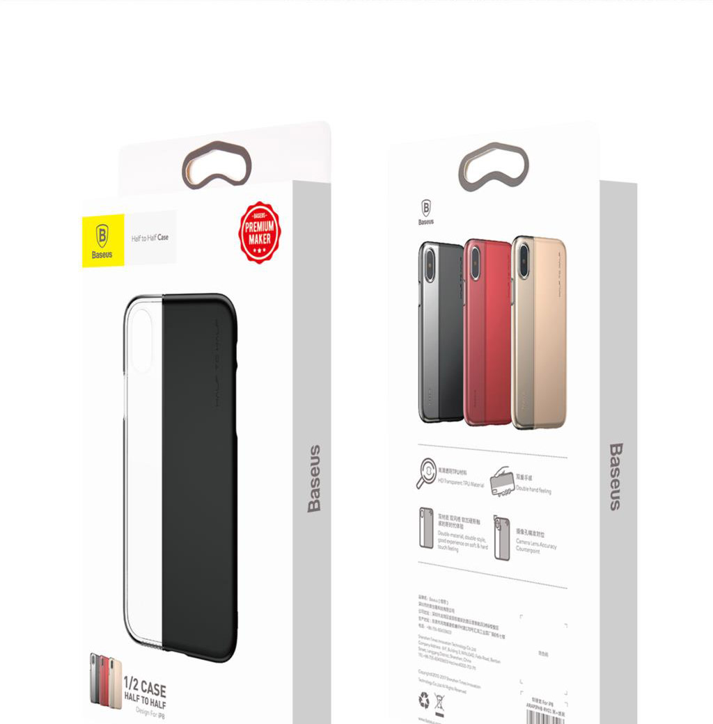 Baseus ARAPIPHX-RY Half to Half Case for iPhone X