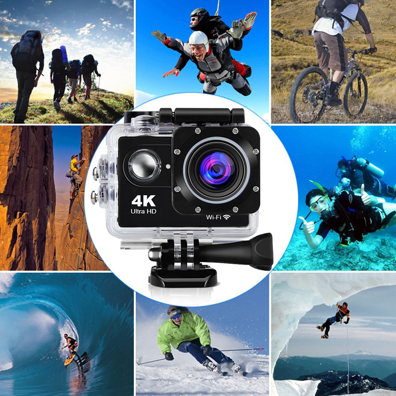 4K WiFi AT-4KR Sport Camera with Remote Control