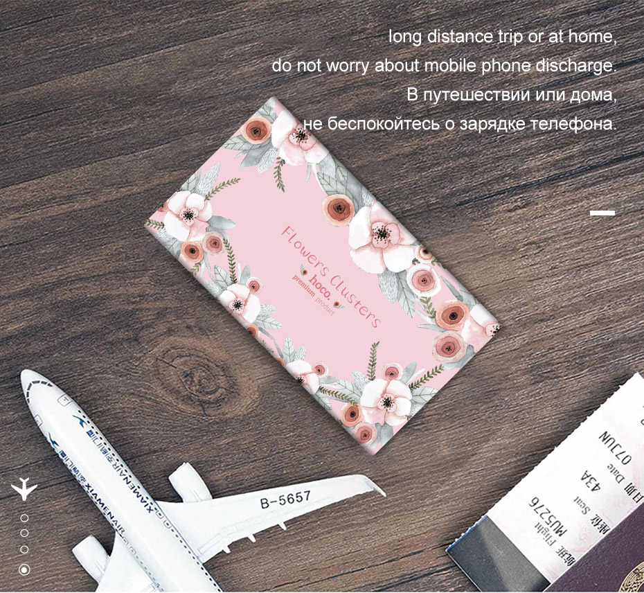 HOCO B12F 13000mAh Flower Story Series Dual USB Power Bank