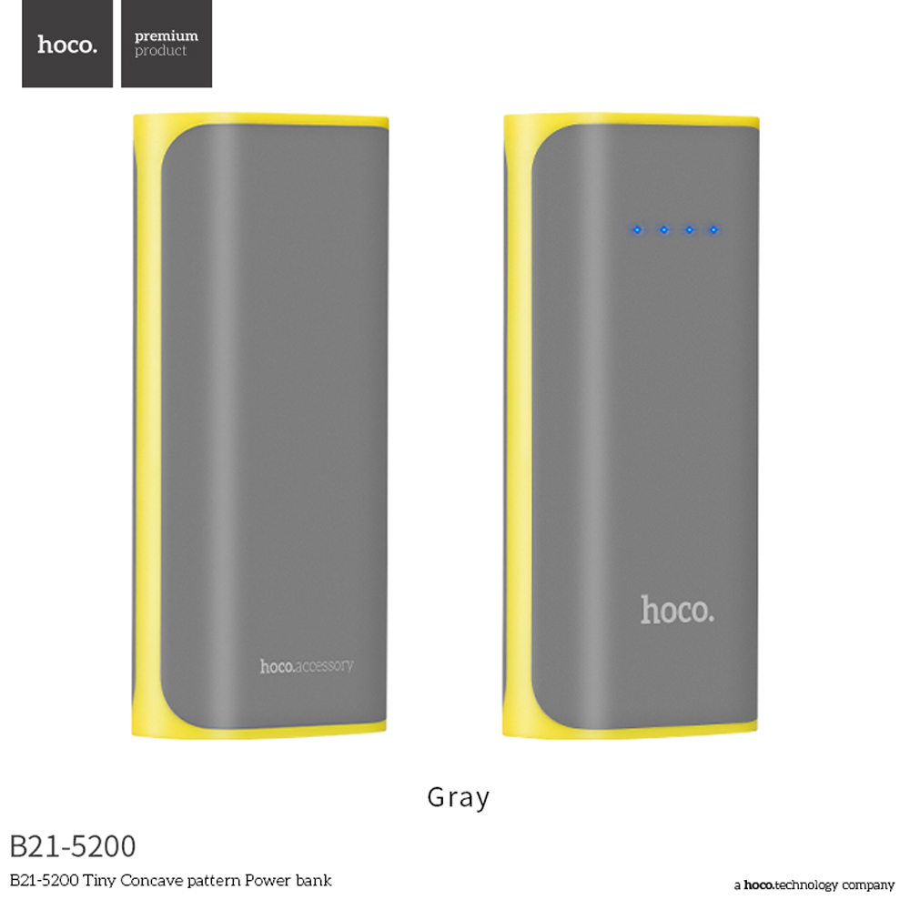 HOCO B21 5200mAh Mini USB Power Bank