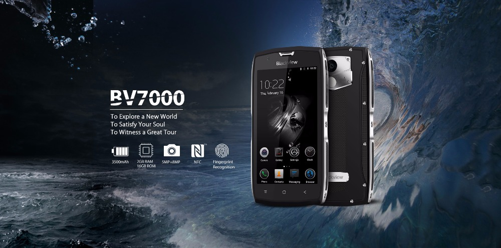 Blackview BV7000 4G IP68 Waterproof Smartphone 2GB RAM 16GB ROM 5.0 Inchs Fingerprint