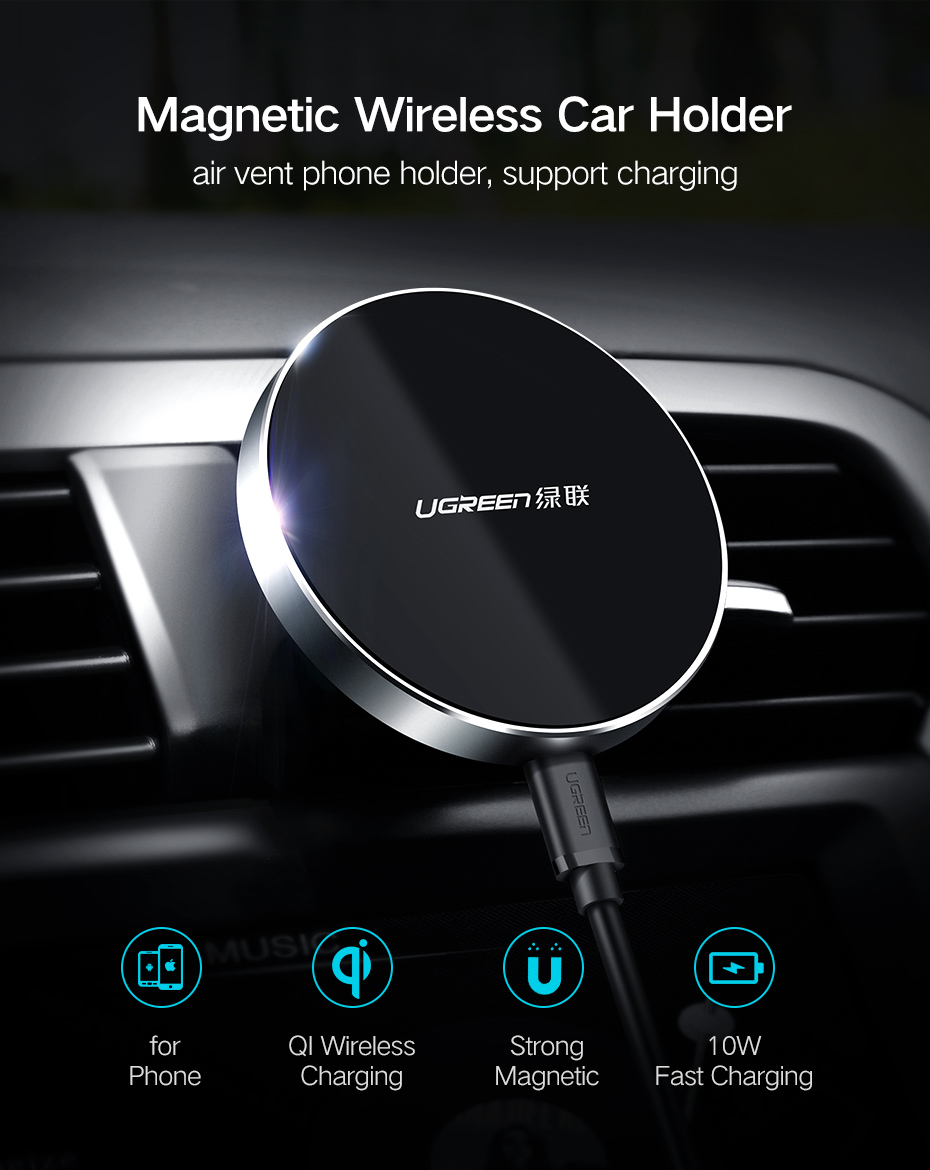 Ugreen CD157 Wireless Charger Car Holder for Samsung Galaxy S7