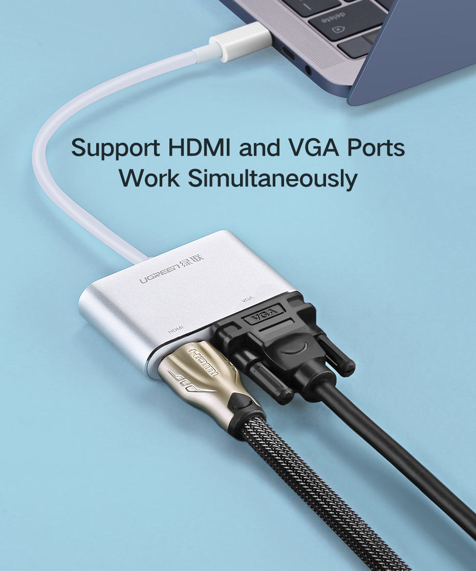 Ugreen CM162 Type-C to HDMI and VGA Converter