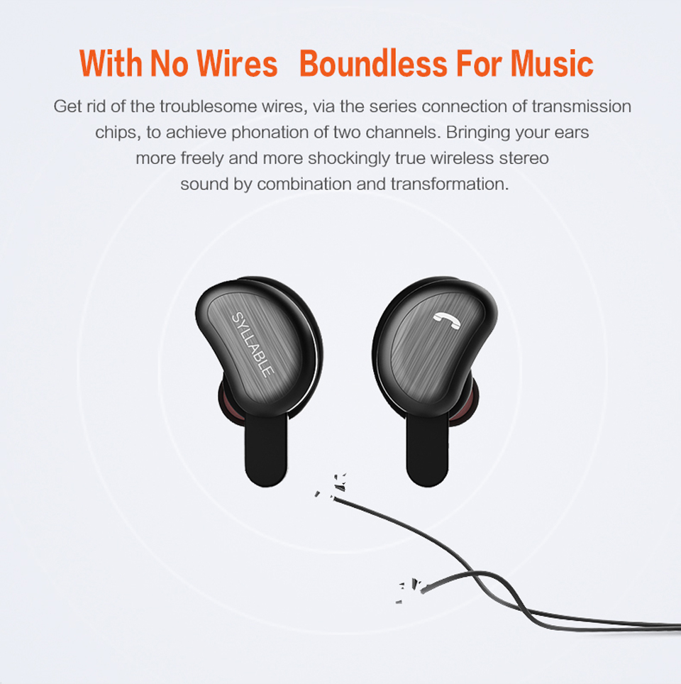 SYLLABLE Stereo D9 In-ear Wireless Bluetooth Earbud IPX4 Waterproof