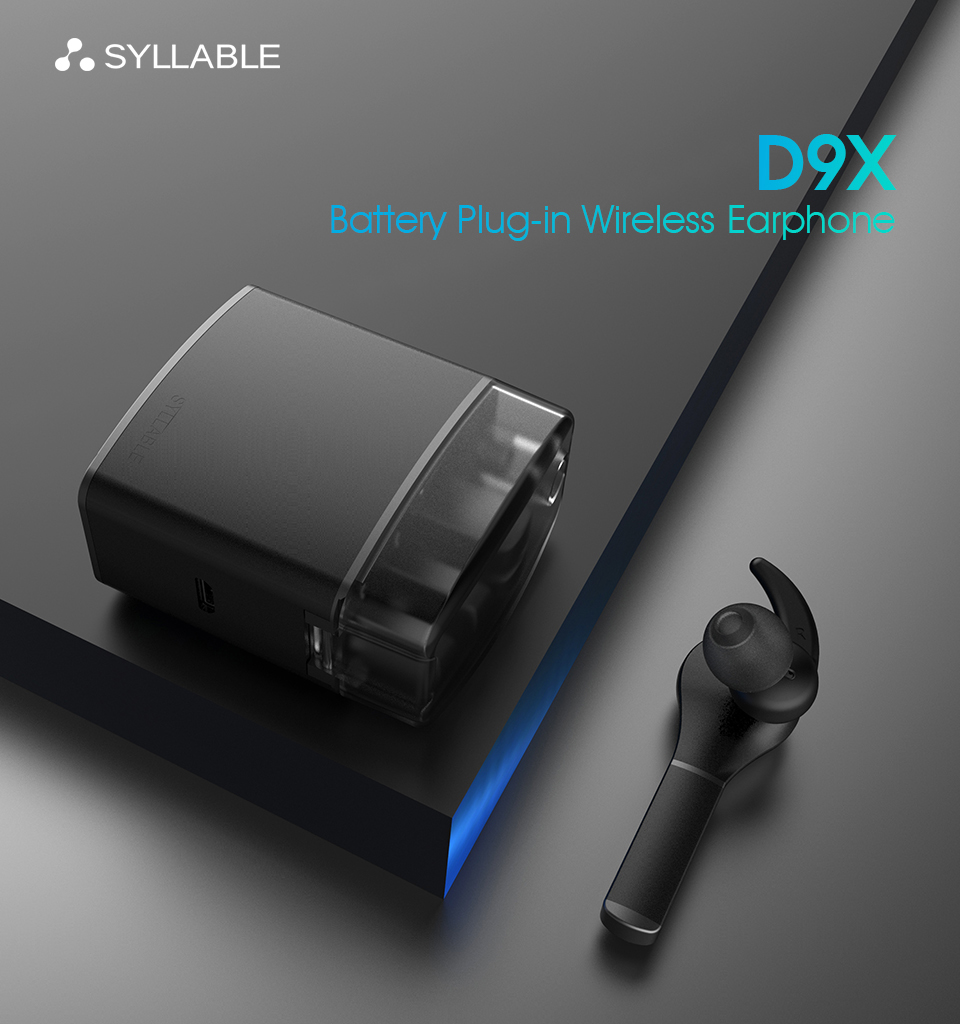 SYLLABLE D9X Wireless Bluetooth Earphone TWS Detachable Battery Charge Case
