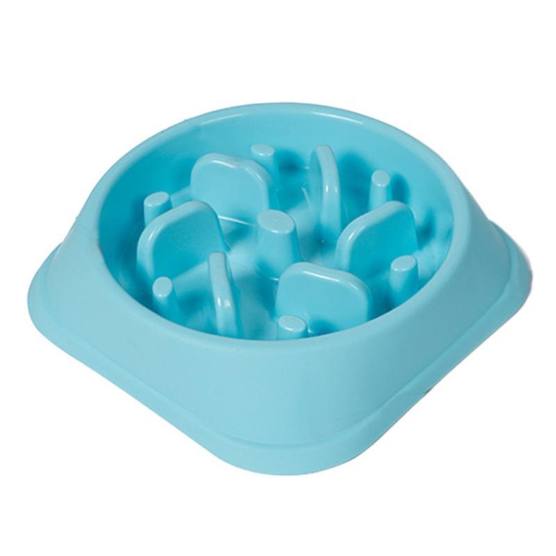 Doglemi DD01268 Anti-Choking Pet Bowl 3 Color Plastic Dog Feeders