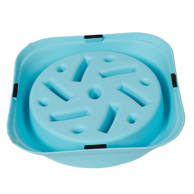 Doglemi DD01268 Anti-Choking Pet Bowl 3 Color Plastic Dog Feeders