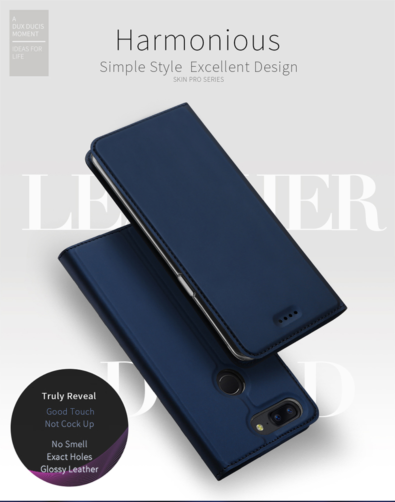 DUX DUCIS PU Leather Flip Case for OnePlus 5T
