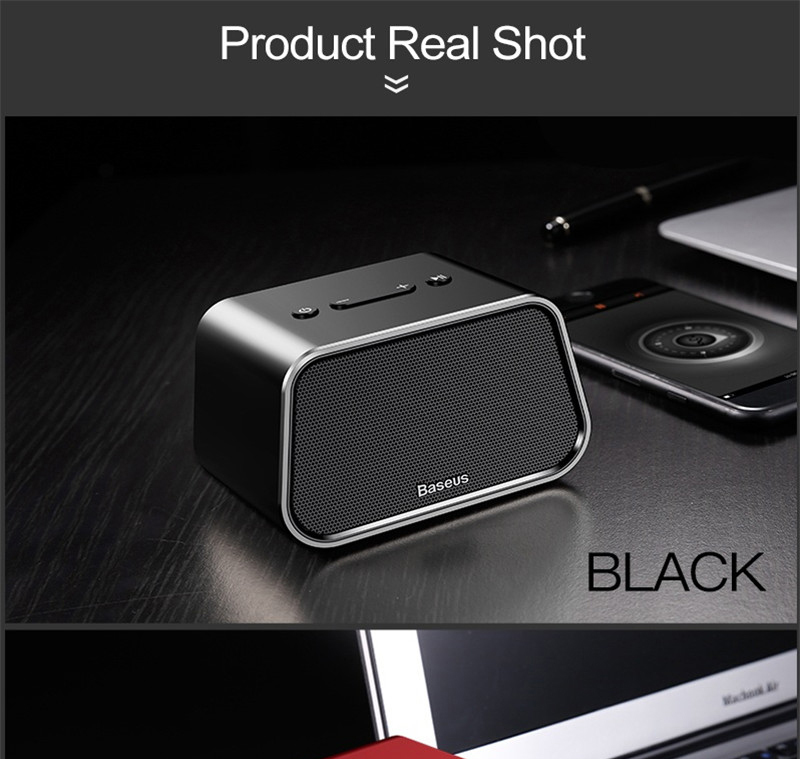 Baseus Encok E02 Trapezoid Bluetooth Speaker Support U Disk / TF Card /Aux Input