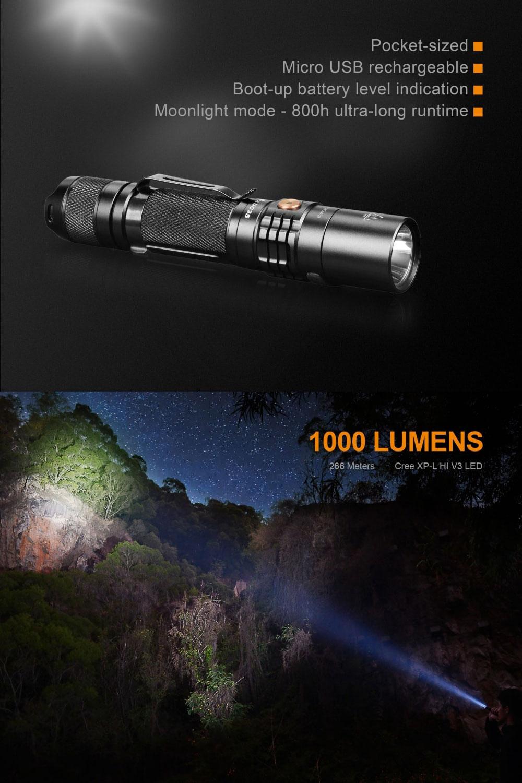 fenix uc35 v2.0 flashlight
