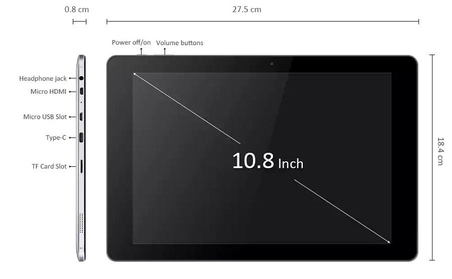 CHUWI Hi10 Plus 10.8 Inch Dualboot Tablet PC