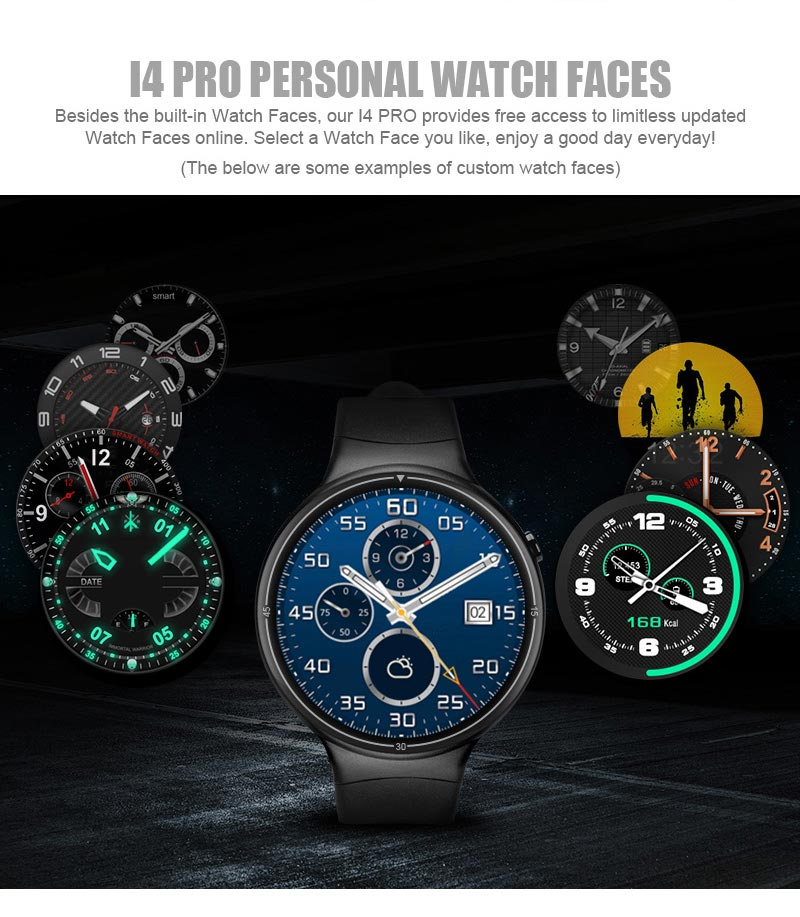 I4 Pro WiFi 3G Waterproof Smart Watch