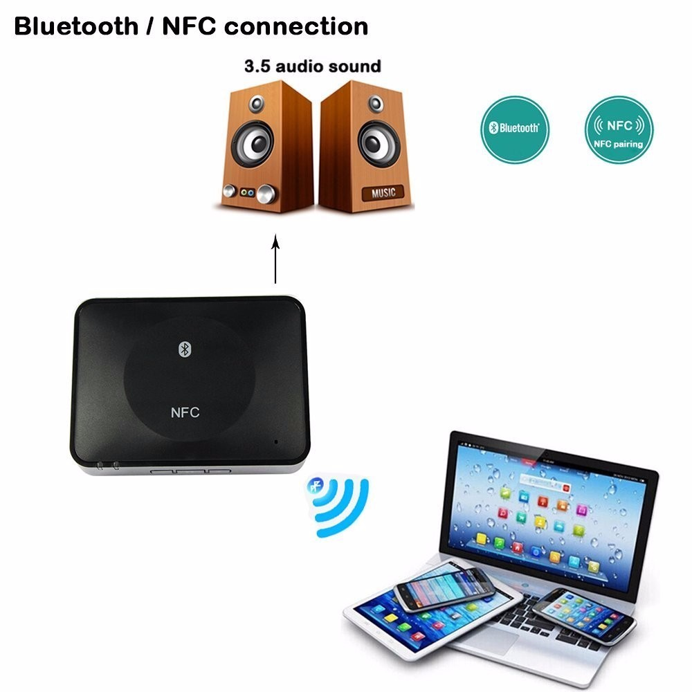 SeenDa IBT-08 NFC Bluetooth 4.1 Stereo Sound USB Audio Adapter Receiver