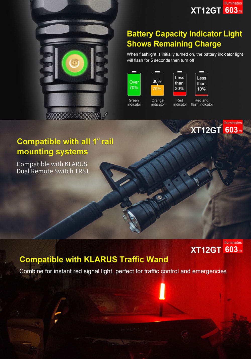 xt12gt tactical flashlight