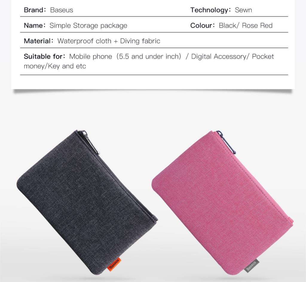 Baseus LBSMP Simple Waterproof Cloth Storage Bag