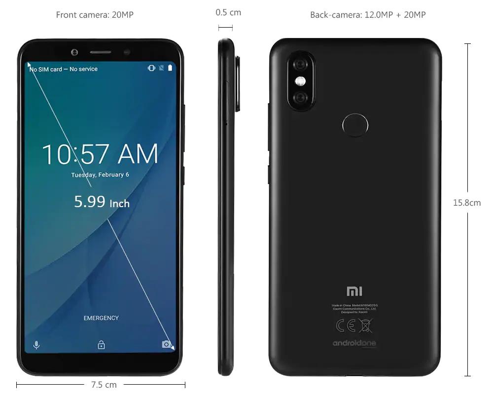 mi a2 smartphone 128gb
