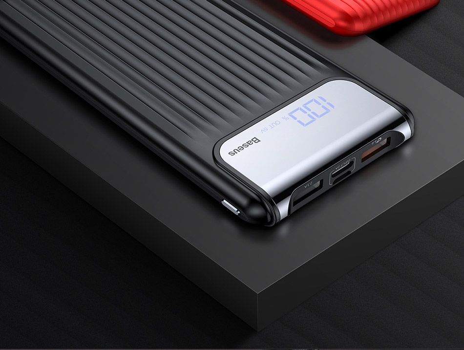 Baseus 10000mAh Thin Digital Dual-output Power Bank