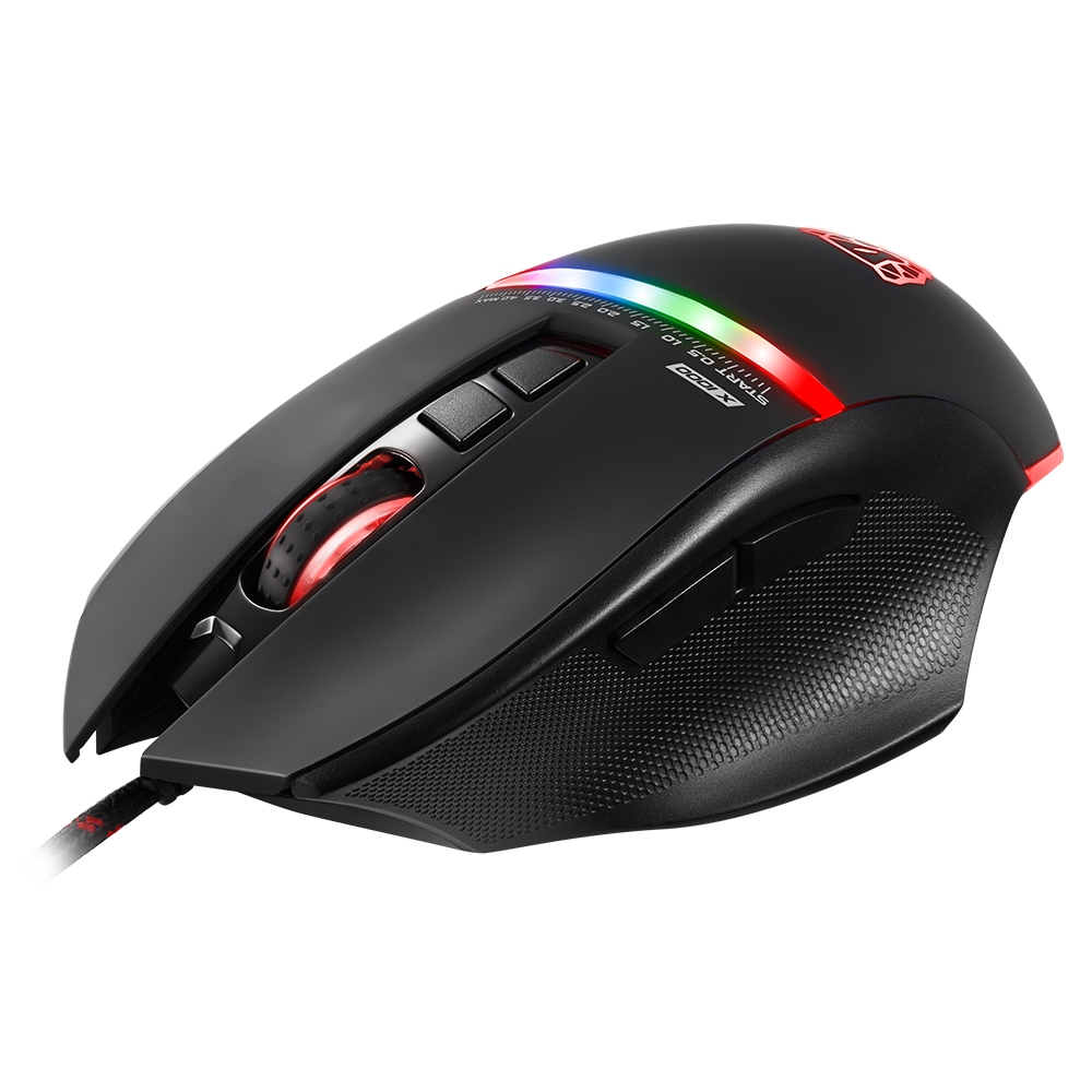 Motospeed V10 USB Wired Gaming Mouse with LED Backlight for Laptop / PC 7 Buttons 4000 DPI Optical Mouse