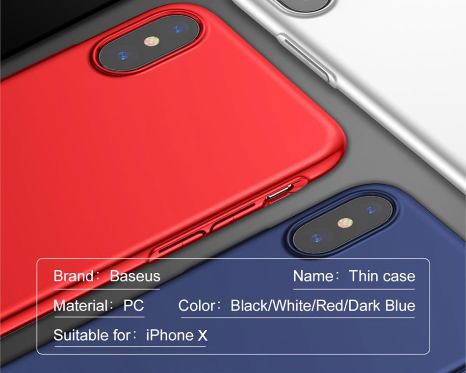 Baseus WIAPIPHX-ZB Thin Case for iPhone X