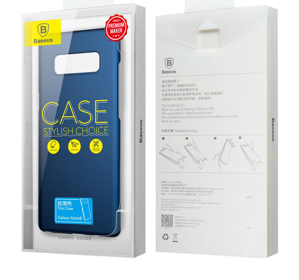 Baseus Thin Case for Samsung Galaxy Note 8 (WISANOTE8-ZB)