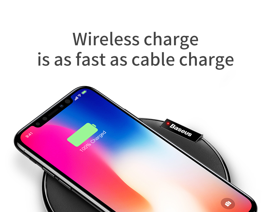 Baseus WXIX Desktop Wireless Charger with 1M USB Cable