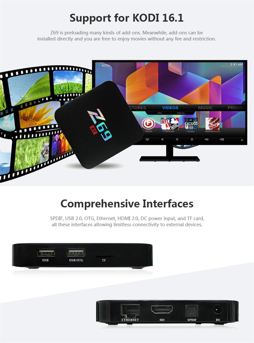 z69 4k smart tv box