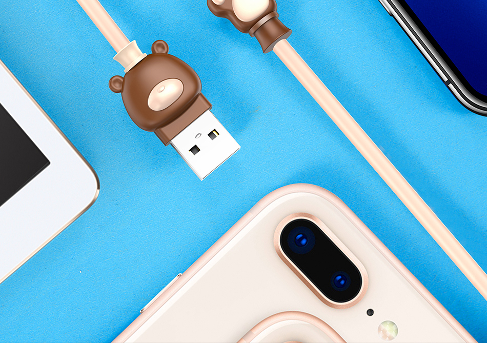 Baseus Cute Bear USB Charger Cable for iPhone