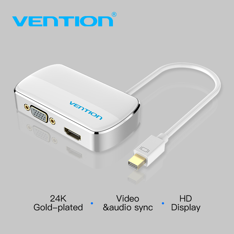 Vention 2 in 1 Mini DP to HDMI / VGA Converter