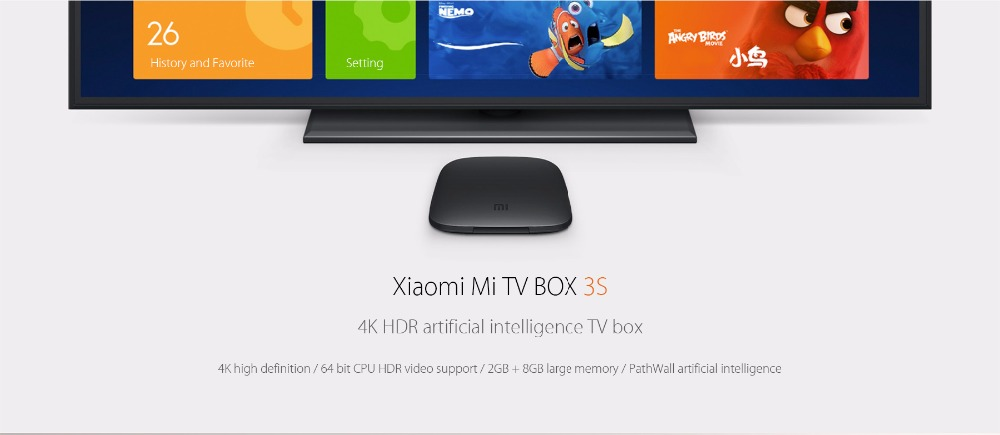 Xiaomi Mi 3S 4K TV Box Android 6.0 Quad Core Set-top Box