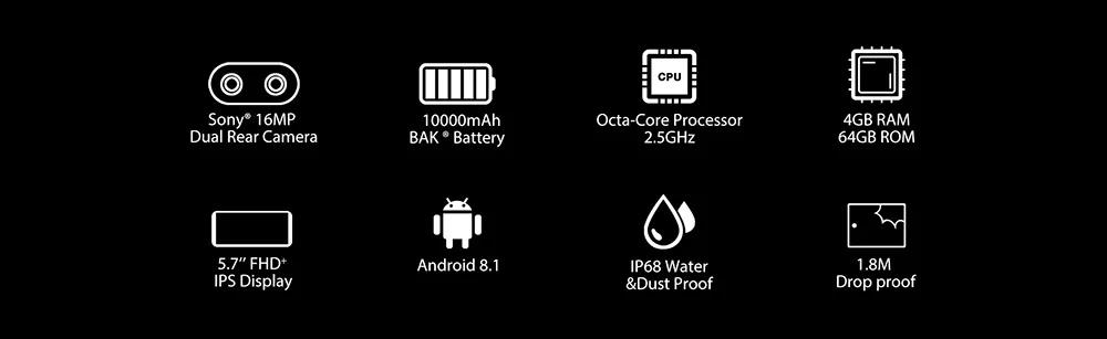 blackview bv9500 smartphone