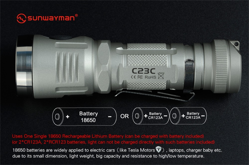sunwayman c23c multi-functional
