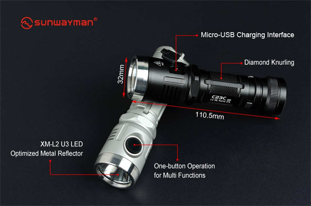 best sunwayman led flashlight