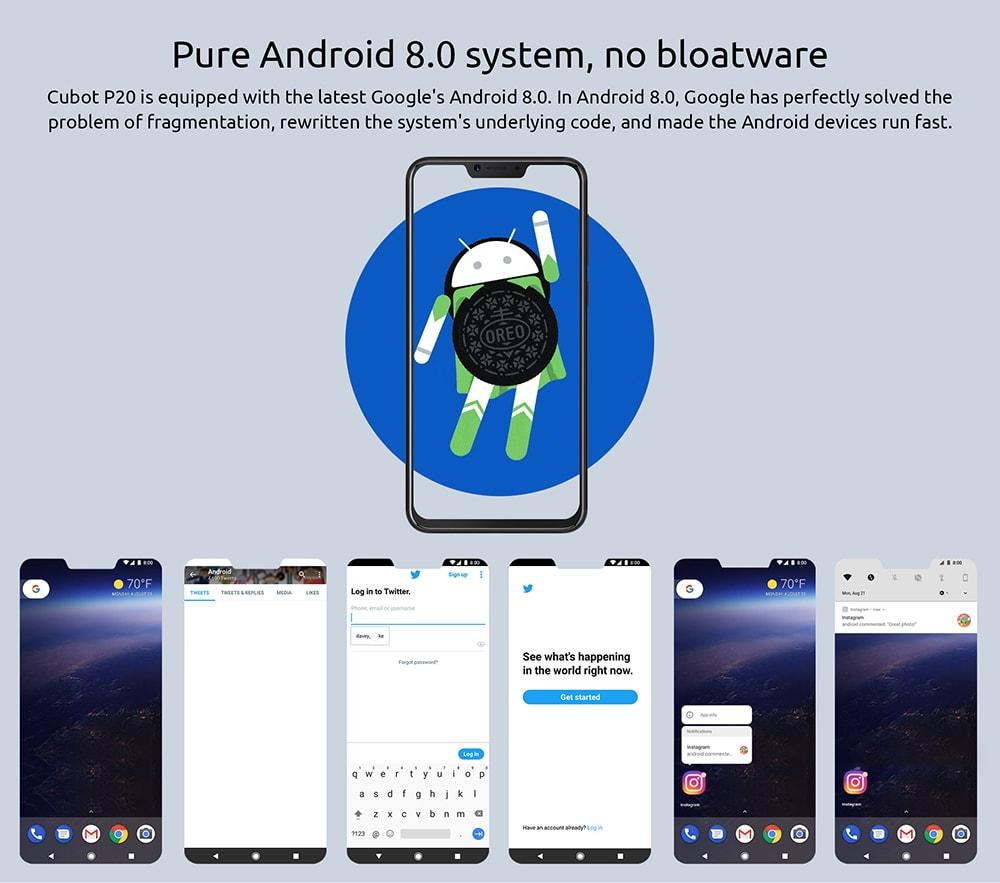 cubot p20 smartphone price