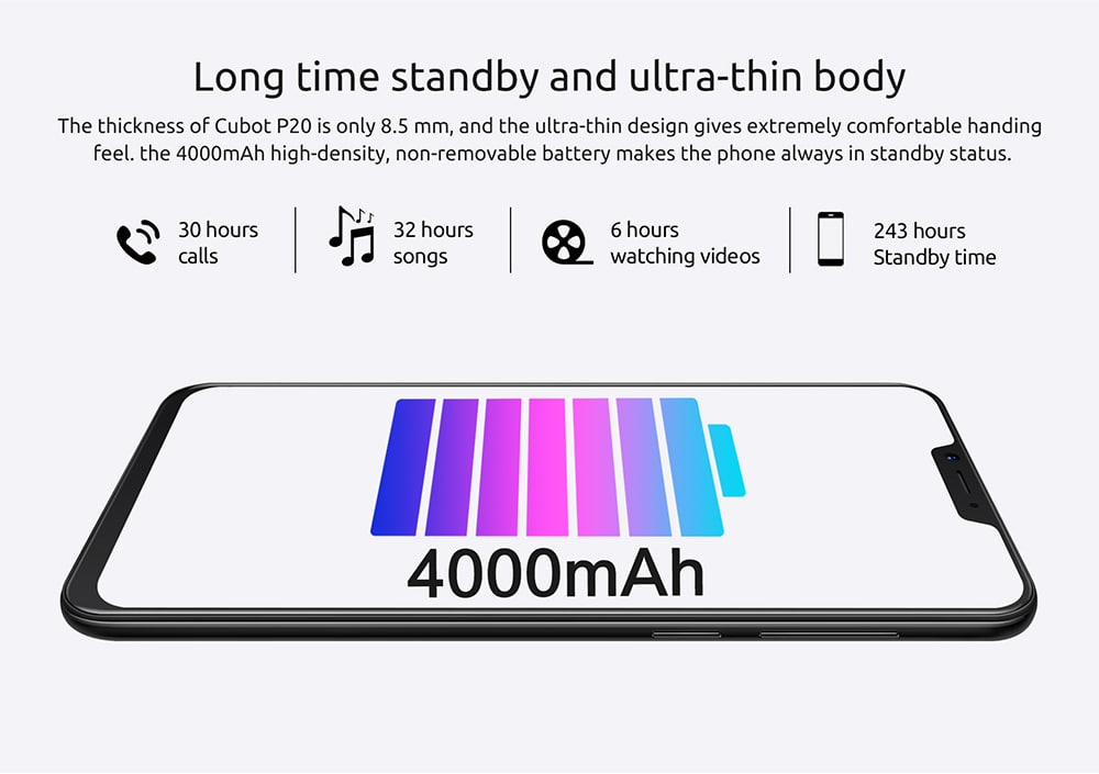 2018 cubot 4g phone