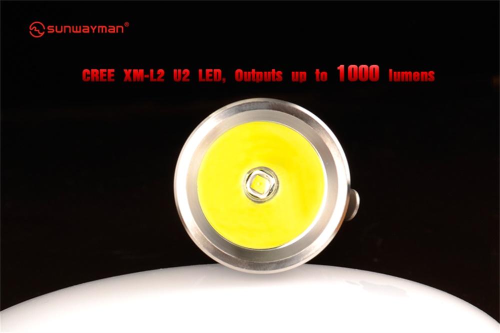 sunwayman g20c flashlight 1000
