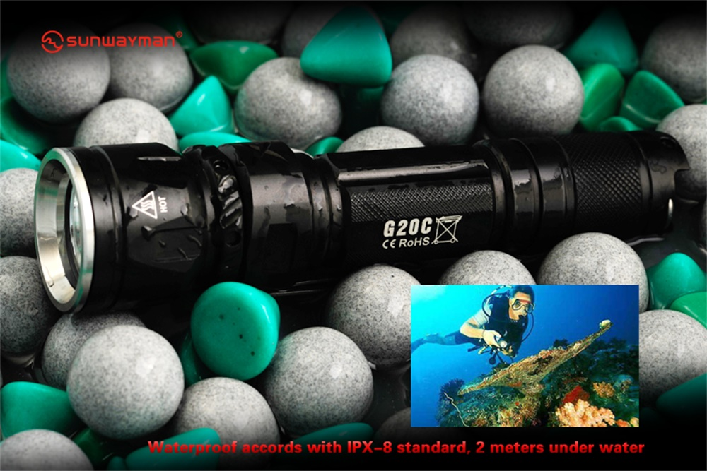 sunwayman g20c led flashlight
