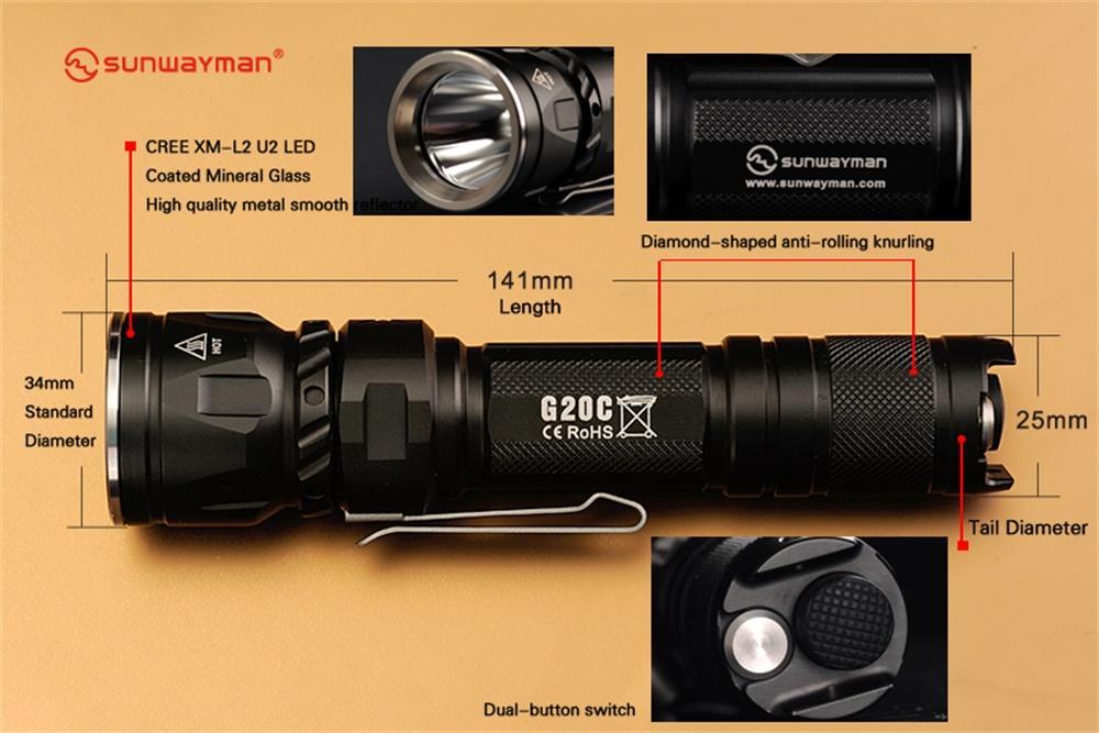 sunwayman g20c flashlight