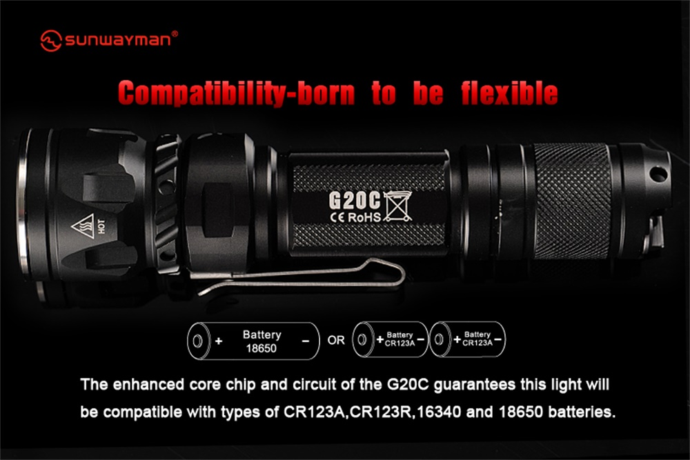 sunwayman g20c mini flashlight