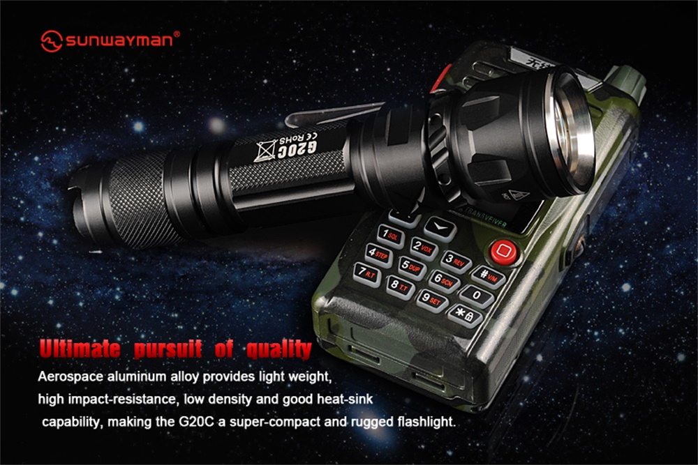 best sunwayman g20c flashlight