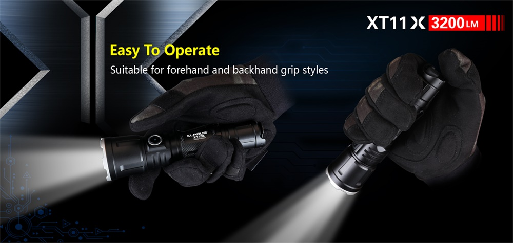 xt11x rechargeable flashlight