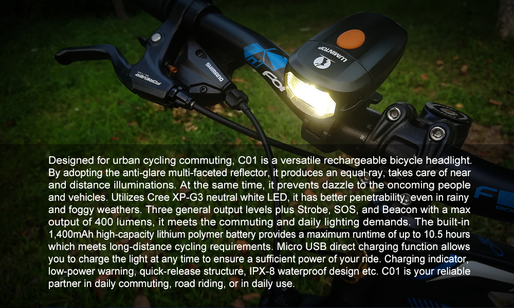 c01 bicycle front light