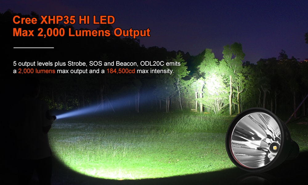 odl20c rechargeable flashlight